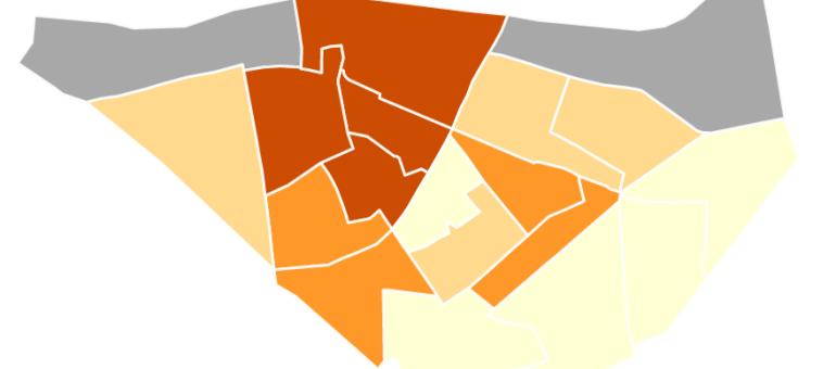 L'est de Neudorf décroche par rapport à l'ouest