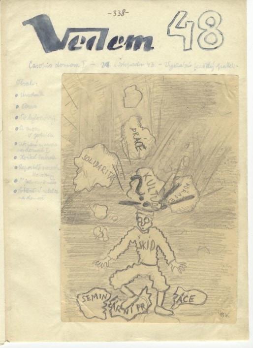 Une couverture de Vedem (Mémorial de Terezin)