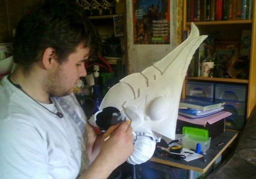 Fabrication du casque de Xanto