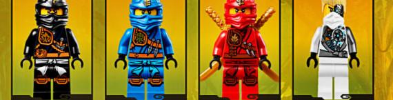 Quelques personnages de la nouvelle gamme Ninjago mise à l'honneur lors de ce jeu (capture d'écran Lego)