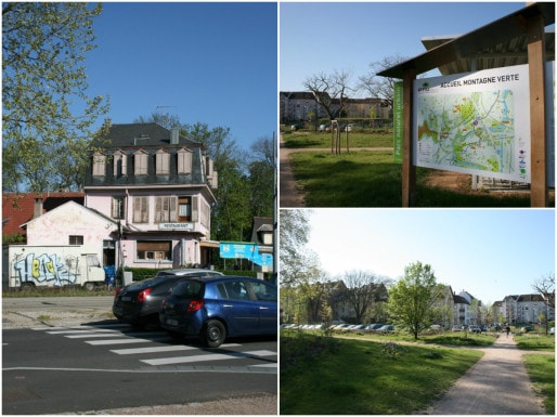 Début de la rue de la Montagne Verte : les abords de l'îlot Foulons-Coudreuse-Corroyeurs ont été rénovés dans le cadre des crédits Parc naturel urbain (Photos MM / Rue89 Strasbourg)