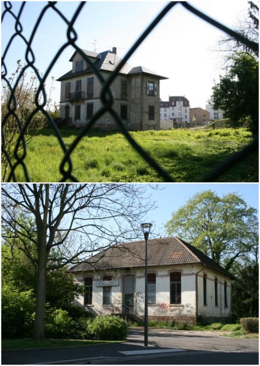 Au n°10 de la rue de la Montagne-Verte, l'ancienne Poste du quartier est inoccupée. De nombreux autres bâtiments sur ce tronçon sont laissés à l'abandon (Photos MM / Rue89 Strasbourg)