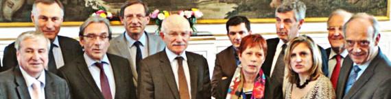 Tous souriants lors de la première réunion... mais rien n'a été décidé. (Photo PF / Rue89 Strasbourg / cc)