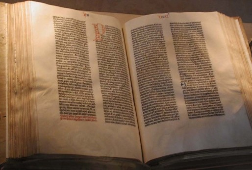 La Bible de Gutenberg (Photo Wikimedia Commons / cc)