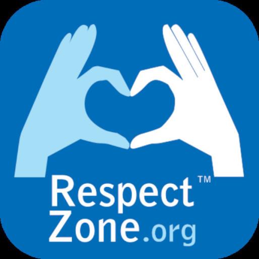 Le logo Respect Zone, que l'on peut apposer sur un site ou sa profil Facebook.