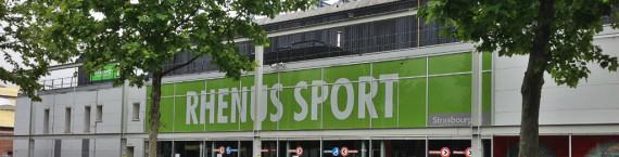 Inauguré en 2003, le Rhénus Sport est aujourd'hui trop petit pour les ambitions européennes de la SIG (photo JFG / Rue89 Strasbourg)