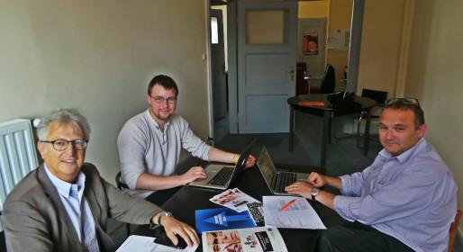 Les organisateurs du symposium de gauche à droite : Roger Braun, Silvio Philippe et Gilles Bloch.