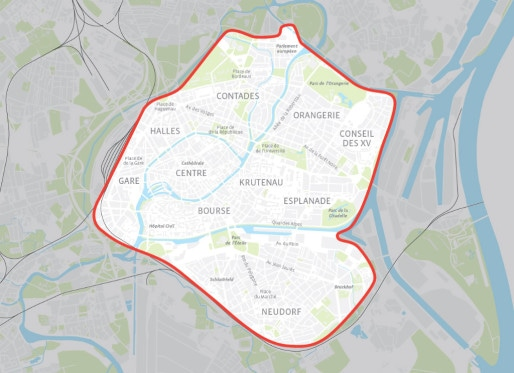 Il sera possible ed rendre sa voiture dans le centre de Strasbourg et ses environs. (Document Citiz)