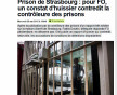 La direction de la prison de Strasbourg a demandé un constat d'huissier suite au contrôle (capture d'écran France Bleu Alsace)