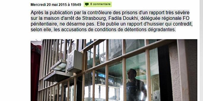 Un rapport d'huissier à la prison de Strasbourg minimise le contrôle