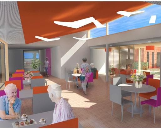Un réfectoire permettra aux résidents de manger ensemble. Une cuisine participative sera aussi accessible. (doc. remis)