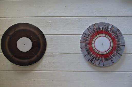 """Les """"vinyles"""", autre expérimentation de Jérôme Klingenfus (Photo MG/Rue89Strasbourg)"""