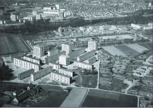 Route du Neuhof, vue aérienne de 1959 (CUS Habitat)