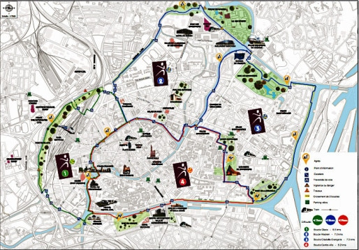 Les 4 Vitacboucles de Strasbourg (document Ville de Strasbourg)