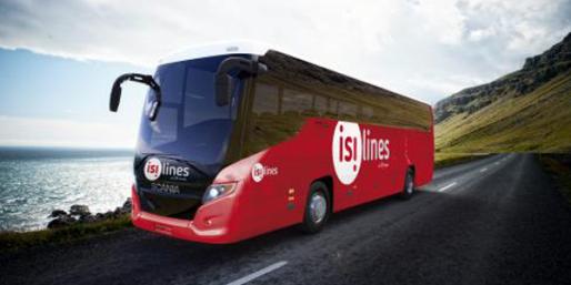 Les bus d'Isilines, les seuls disponibles pour la France depuis Strasbourg (doc remis)