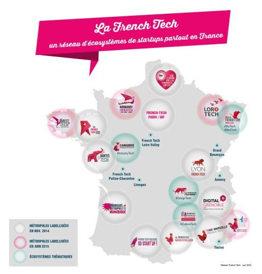 La carte de la French Tech (doc mission FT)