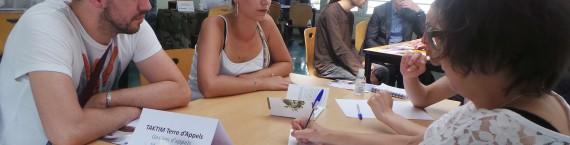 """Près de 150 demandeurs d'emploi ont tenté leur chance au """"Café Contact Emploi"""". (Photo : Rue89 Strasbourg)"""