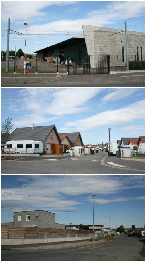 Jouxtant le terrain d'aviation, le quartier des aviateurs a fait l'objet de plusieurs vagues de construction et réhabilitation (Photos MM / Rue89 Strasbourg)