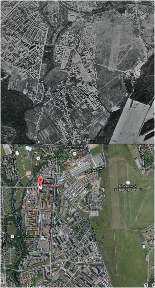 Entre 1964 et 2015, boom des constructions au Polygone (DR)