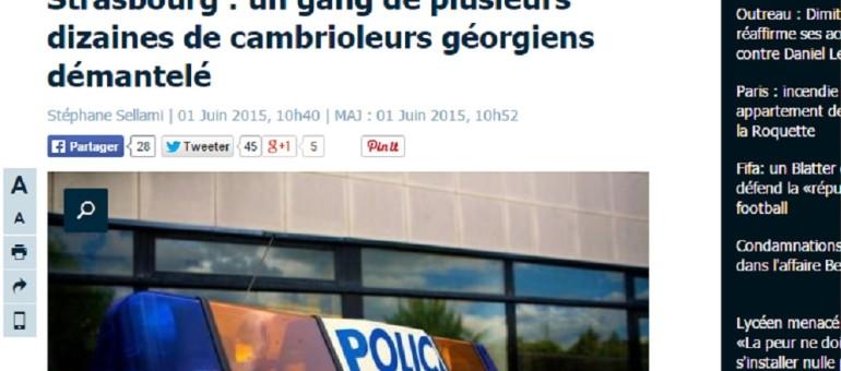 Un gang de cambrioleurs géorgiens démantelé à Strasbourg
