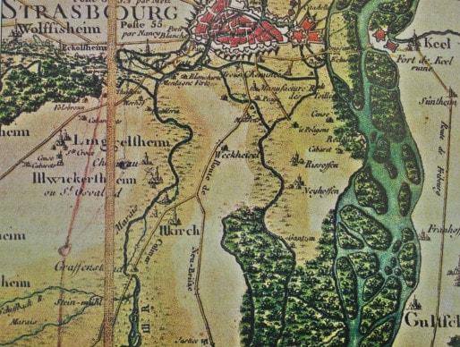 Le Neuhof en 1750 (DR)