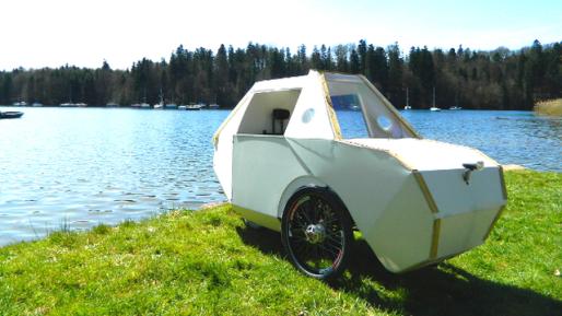 Evoz est un projet de carrosserie pour les trike, les vélos à trois roues. (Photo de la page Ulule)