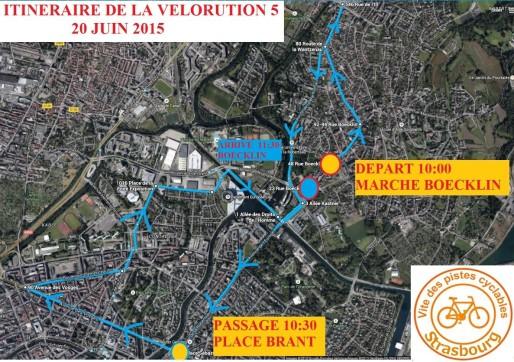 Le parcours de la manifestation.