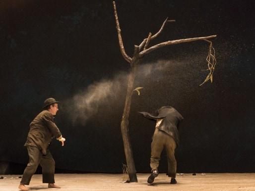 """""""En attendant Godot"""" de Jean-Pierre Vincent (Photo Raphael ARNAUD)"""