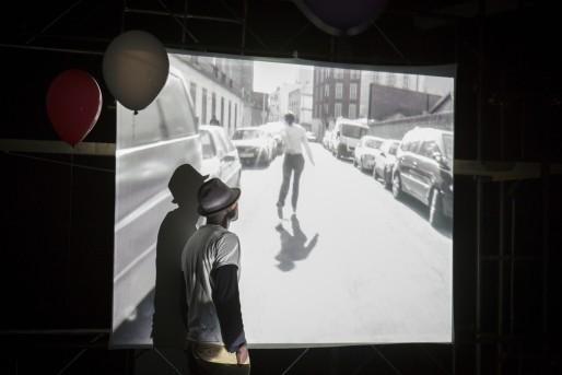 """""""Le Kung Fu"""" de Dieudonné Niangouna (Photo Christophe RAYNAUD DE LAGE)"""