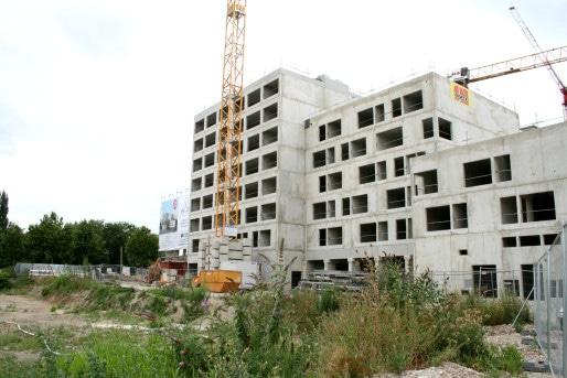 La résidence étudiante Altexia, côté Est (Photo MM / Rue89 Strasbourg)