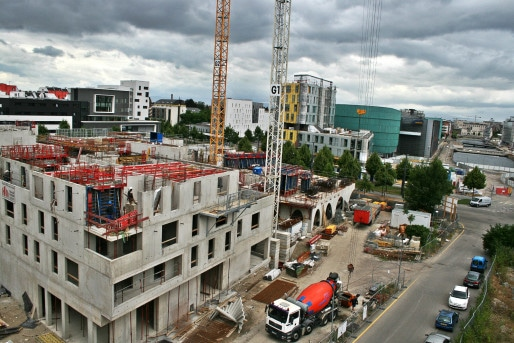 Le sud-est du quartier Danube en chantier (Photo MM / Rue89 Strasbourg)