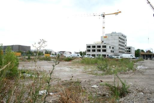 Les terrains Est seront lôtis à l'occasion d'une troisième tranche, d'ici 2020 (Photo MM / Rue89 Strasbourg)