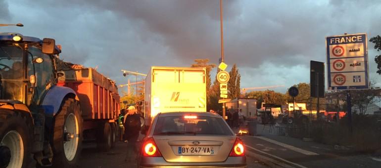 Ponts sur le Rhin bloqués par les agriculteurs ce lundi