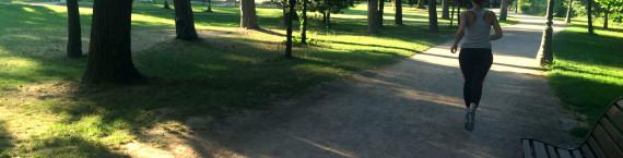 Courir à Strasbourg, en été, sous la canicule Barrières de fermeture des parcs en cas d'intempéries  (Photo Rue89 Strasbourg /AM)