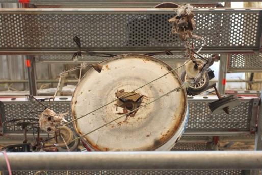Les automates de l'Horloge du millénaire remplissent trois étages d'un échafaudage. (Aline Fontaine)