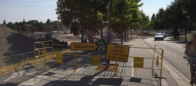 Tribune : travaux d'été dans l'Eurométropole : sale temps pour les vélos!