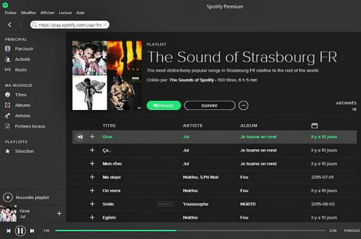 Spotify dévoile les titres qui ont le plus de succès par rapport aux autres villes du monde.