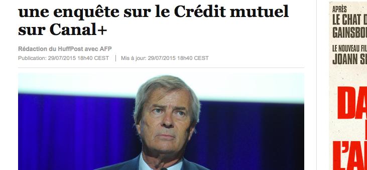 Vincent Bolloré aurait censuré une enquête sur le Crédit Mutuel