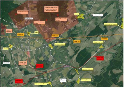 Vue globale du site de Bure ( Source : VMC.CAMP )