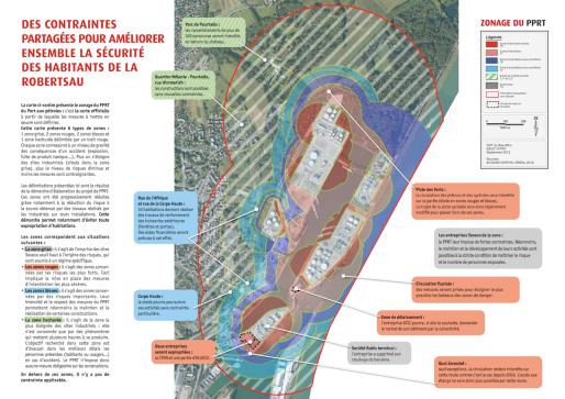 Zone de risques du Port aux Pétroles (Carte DREAL ALSACE)