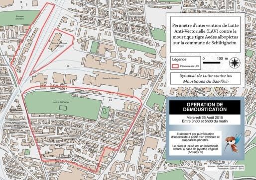 Le périmètre concerné par l'intervention à Schiltigheim (Agence Régionale de Santé)