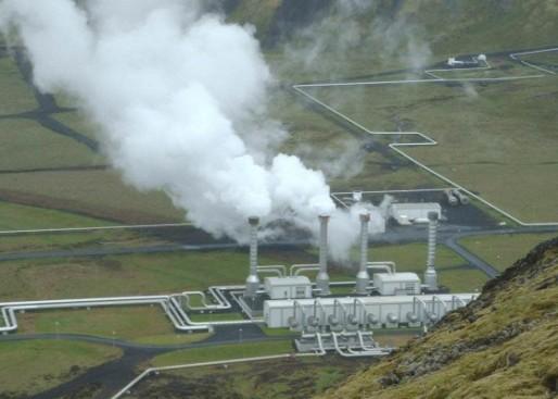Une centrale de géothermie (-)