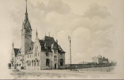La capitainerie du port de Strasbourg a été construite entre 1899 et 1901 - Elle héberge aujourd'hui un bureau de Poste (Doc. BNU)