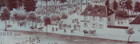 Le Jardin Haemmerlé était loué aux footballeurs avant la construction du stade (carte postale - Wikipédia)