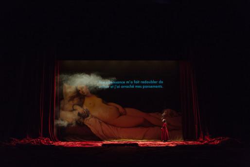 Angélica Liddell en décembre au Maillon (Photo Samuel Rubio)
