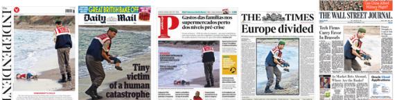 La photo du petit Aylan mort noyé a provoqué un élan d'émotion dans la presse occidentale