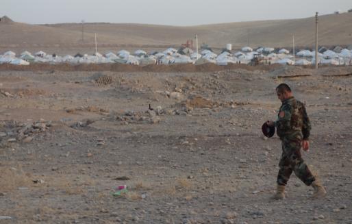 Un camp de réfugiés syriens au Kurdistan irakien (Photo Béatrice Dillies / FlickR / cc)