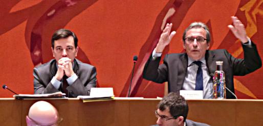 Le maire Roland Ries (à gauche), proposera un débat sur l'accueil de réfugiés à Strasbourg (photo PF /Rue89 Strasbourg)