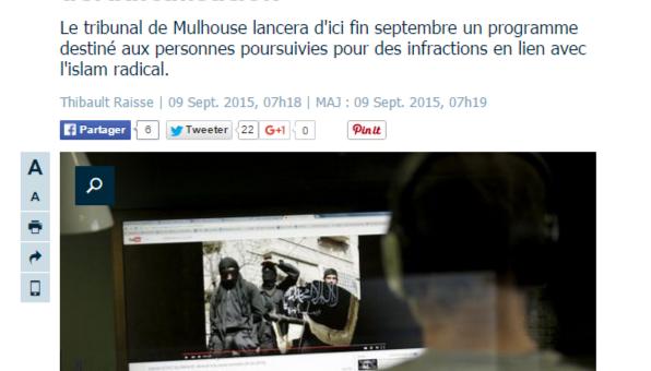 Des stages de déradicalisation testés à Mulhouse