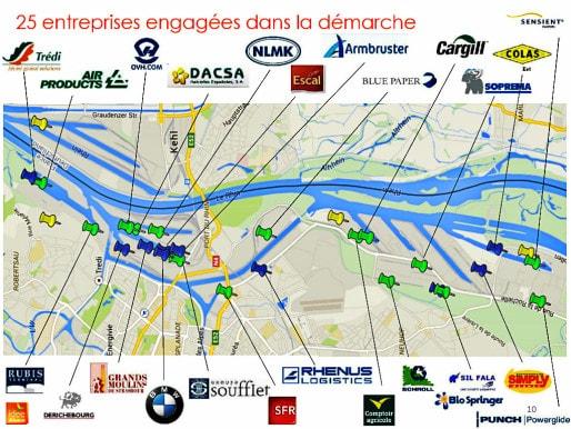 25 entreprises sur plus de 300 sont associées à l'économie circulaire dans le port de Strasbourg. Il s'agit des plus grosses industries (doc. remis)